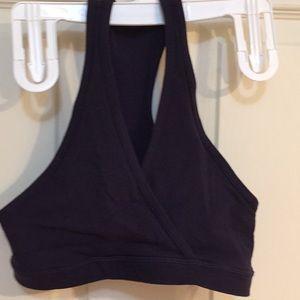 Lululemon size 2 black bra top